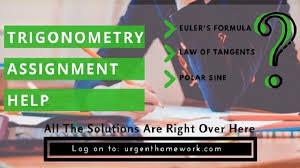 Trigonometry Assignment Help online