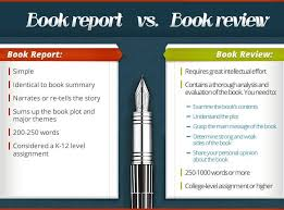 A Book Report and a Book Review comparison