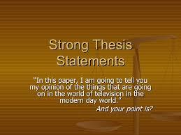 Thesis Statement online help