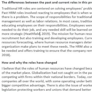HRMD 610 9041 Issues and Practices in Human Resource Management (2212) Week 1 Discussion
