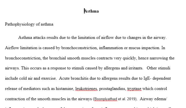case study- asthma