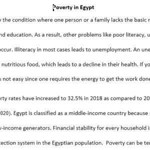 poverty essay