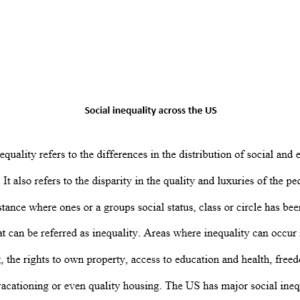 social inequality within the US