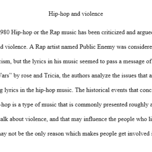 Hip-hop and Violence