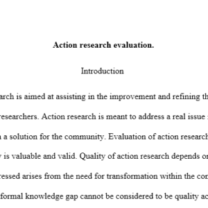 action research evaluation