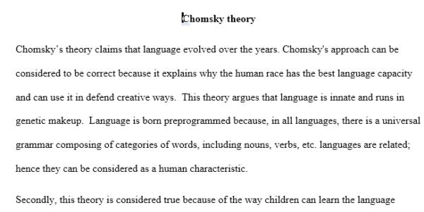 chomsky theory