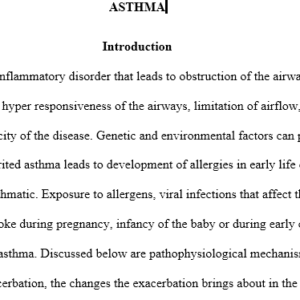 discussion on Asthma