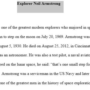 explorer - Neil Armstrong