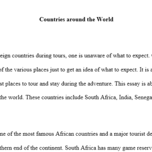 foreign countries