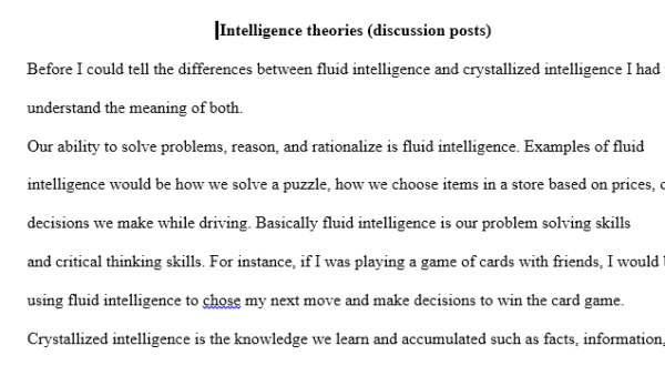 intelligence theories