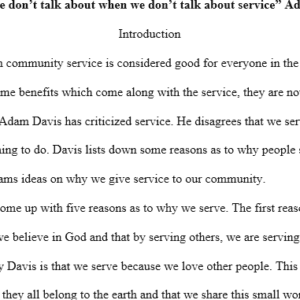 why we serve- Adam Davis